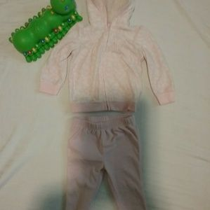 Babies pink sweat outfit hoodie